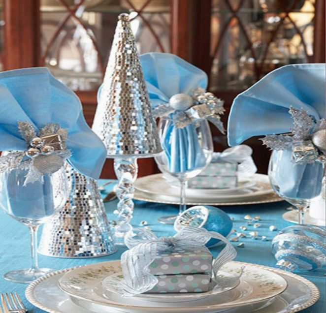 Best Blue Christmas Table Decor Ideas Virily