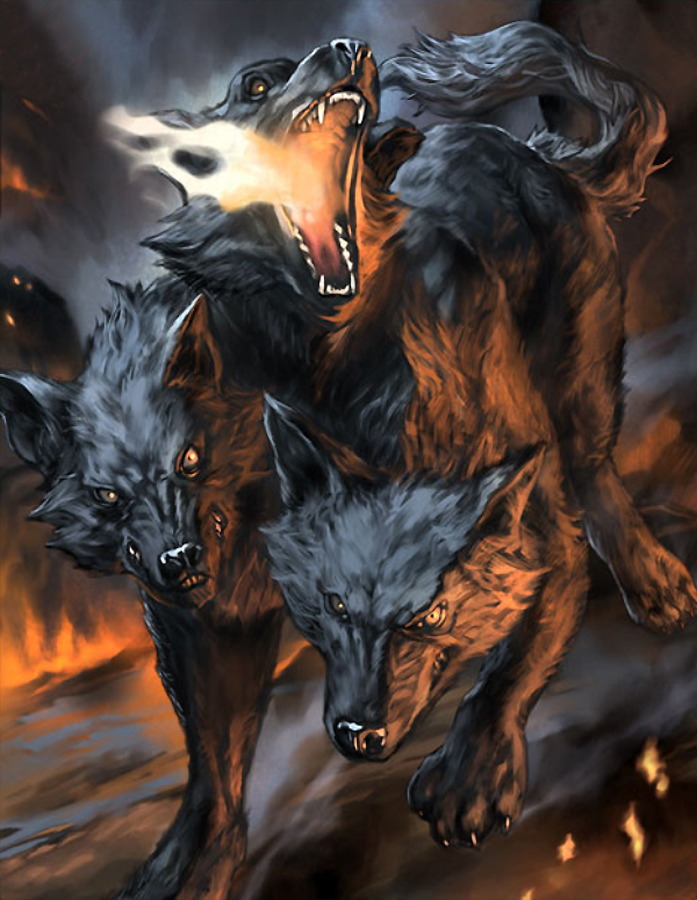 Would You Like a Dog Like Cerberus - VirilyThree Headed Animal Drawing