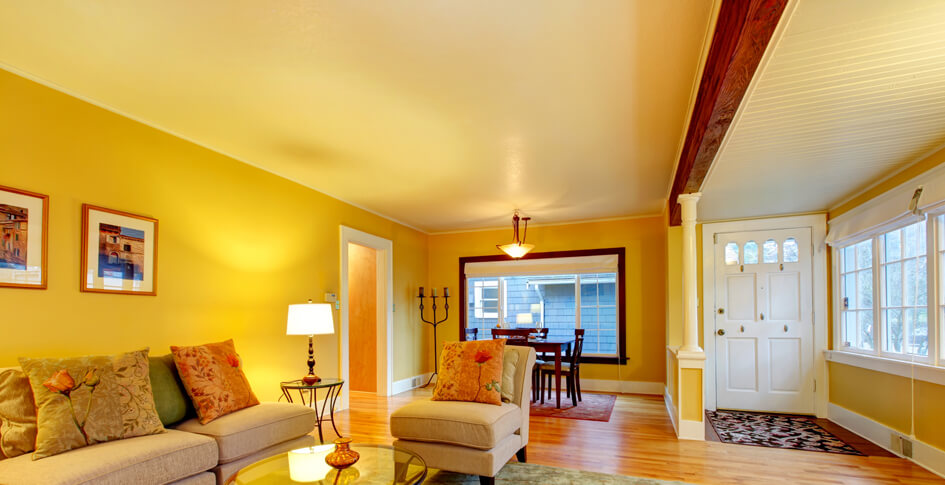 lovely yellow living room paint ideas | Colour Psychology: Using Yellow in Interiors - Virily