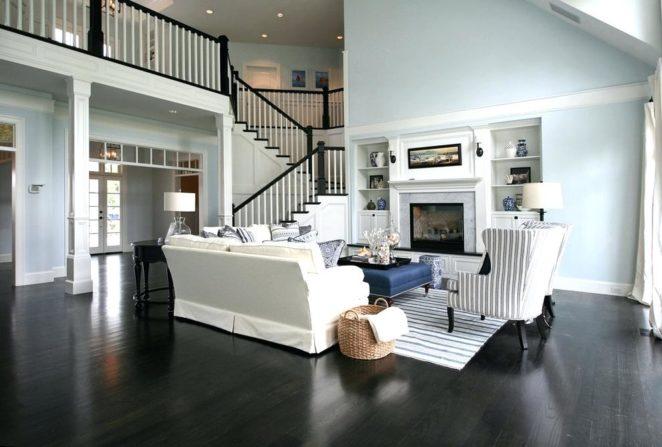 Dark flooring ideas in living room - Virily