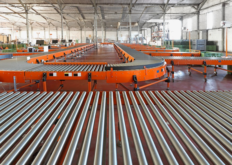 Warehouse conveyor rollers